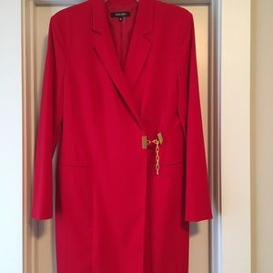 Ellen Tracy red  suit dress